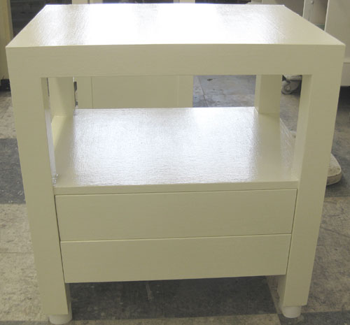 Linen Wrapped Parsons End Table